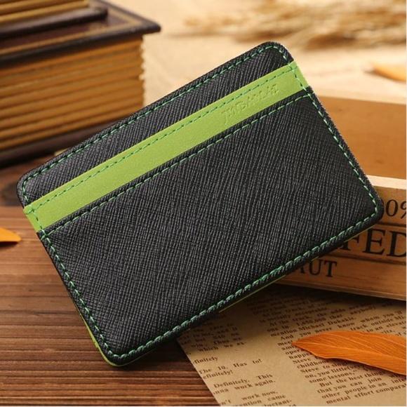 16d8c9eef09e Bags | Mini Wallet Card Holder Green Money Clip | Poshmark
